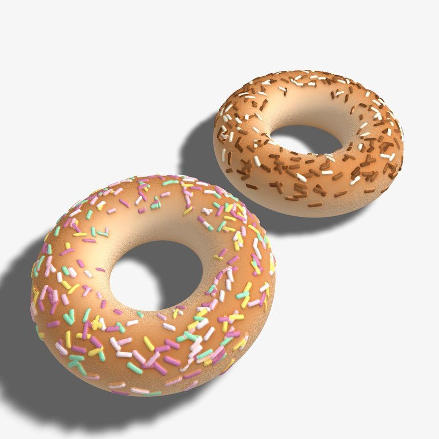 Ring Doughnuts royalty-free 3d model - Preview no. 6
