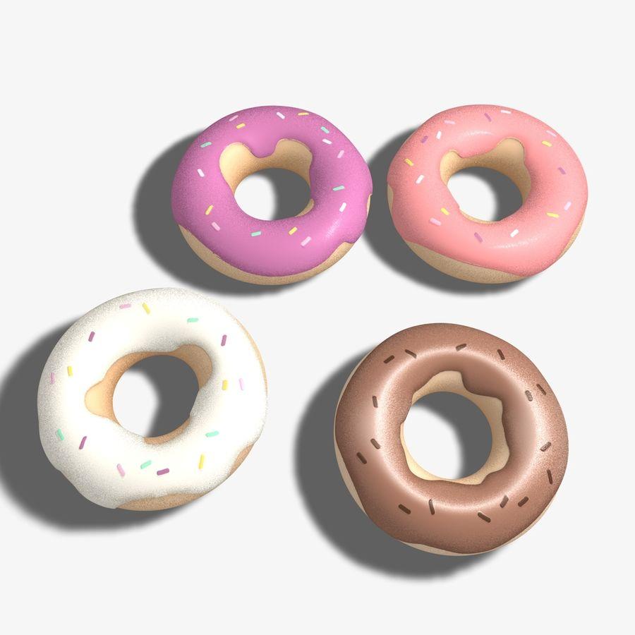 Ring Doughnuts royalty-free 3d model - Preview no. 5
