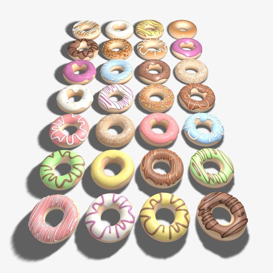 Ring Doughnuts royalty-free 3d model - Preview no. 8