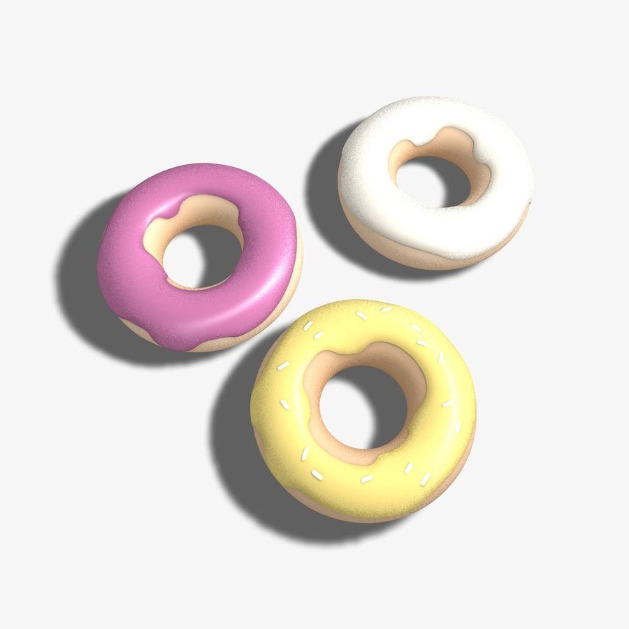 Ring Doughnuts royalty-free 3d model - Preview no. 4