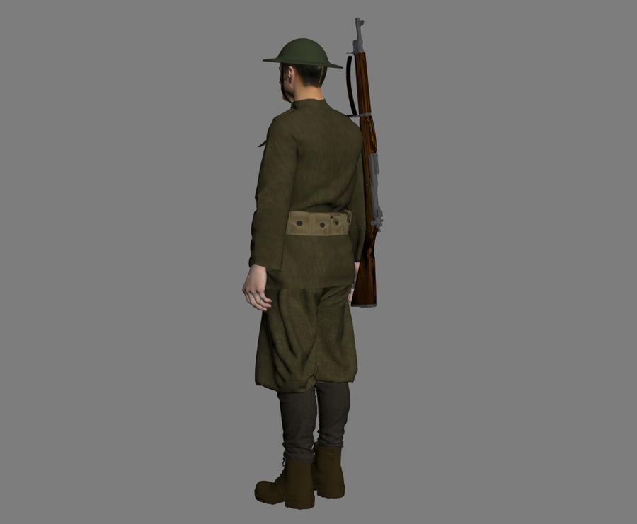 イギリス兵WW1 royalty-free 3d model - Preview no. 6