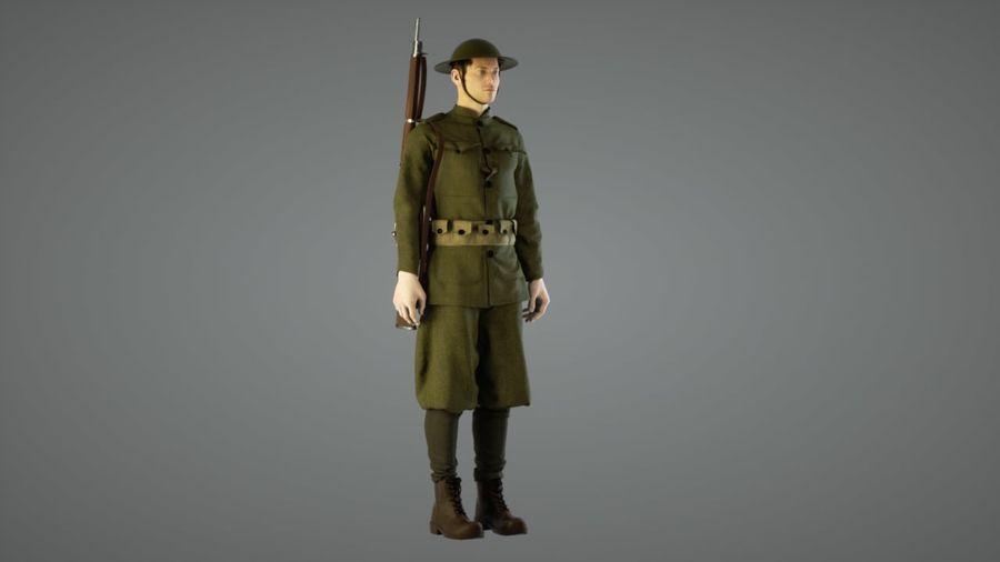 イギリス兵WW1 royalty-free 3d model - Preview no. 1