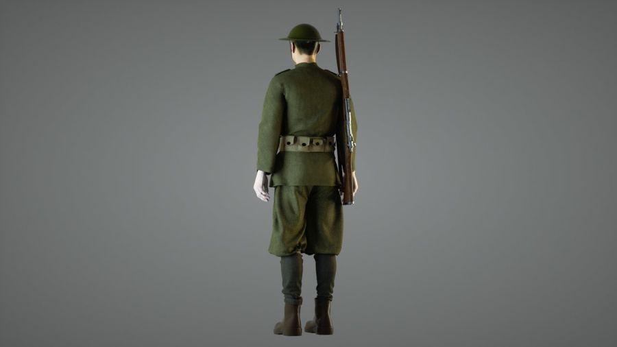 イギリス兵WW1 royalty-free 3d model - Preview no. 3