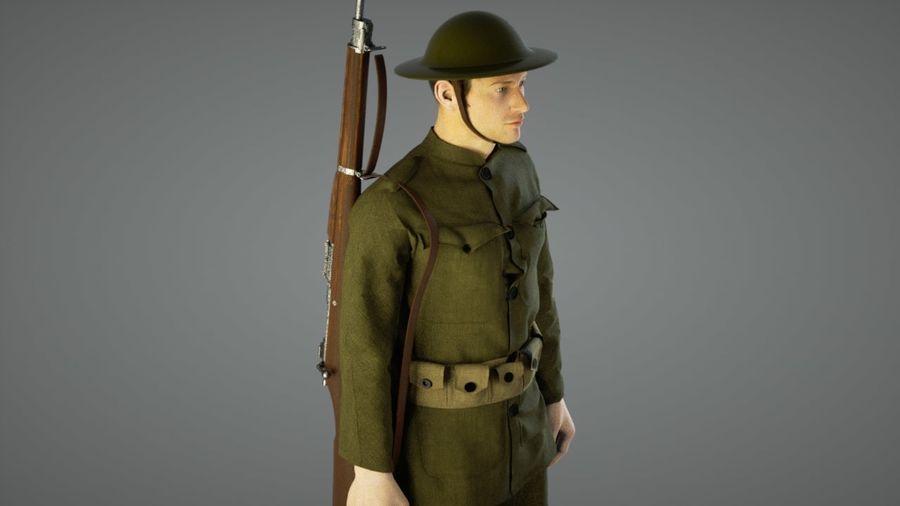 イギリス兵WW1 royalty-free 3d model - Preview no. 5