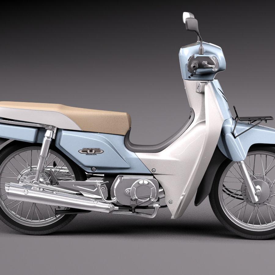 Honda Super Cub 2013 royalty-free 3d model - Preview no. 7