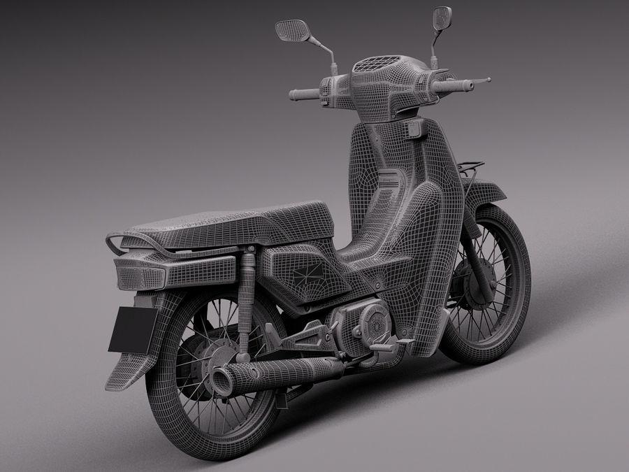 Honda Super Cub 2013 royalty-free 3d model - Preview no. 14