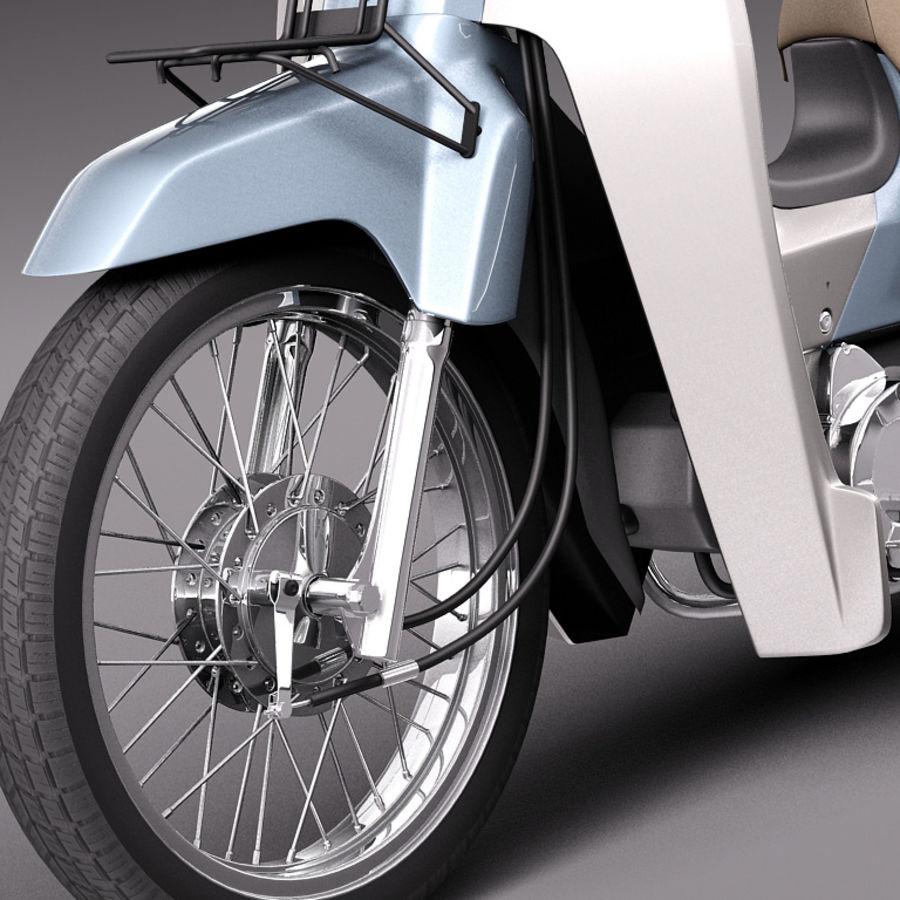 Honda Super Cub 2013 royalty-free 3d model - Preview no. 3