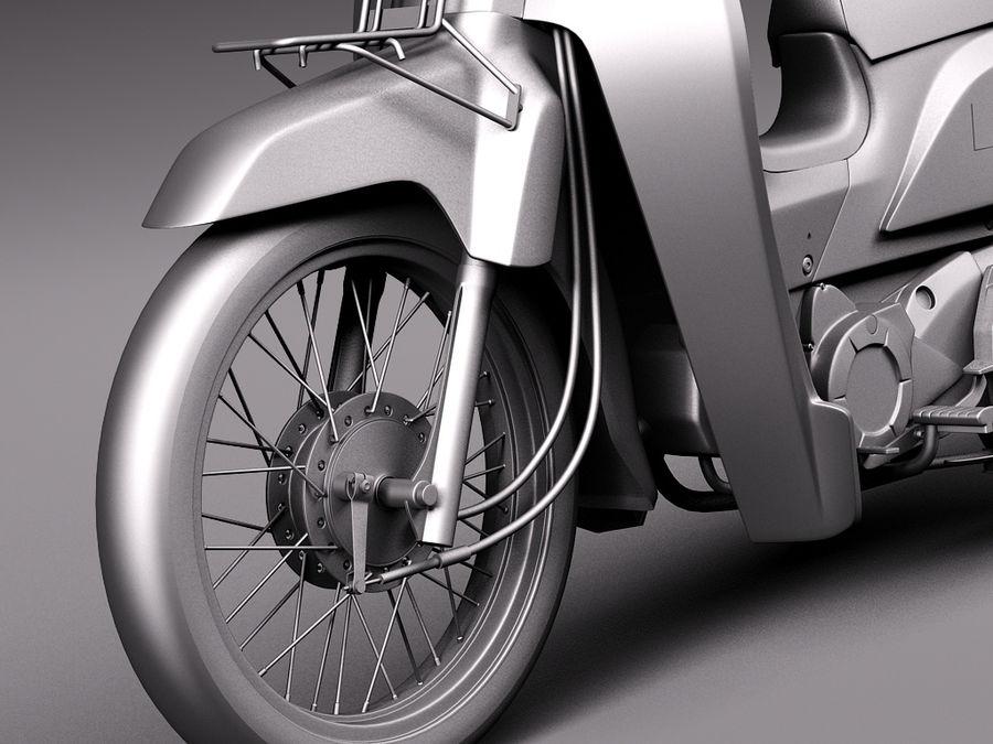 Honda Super Cub 2013 royalty-free 3d model - Preview no. 10