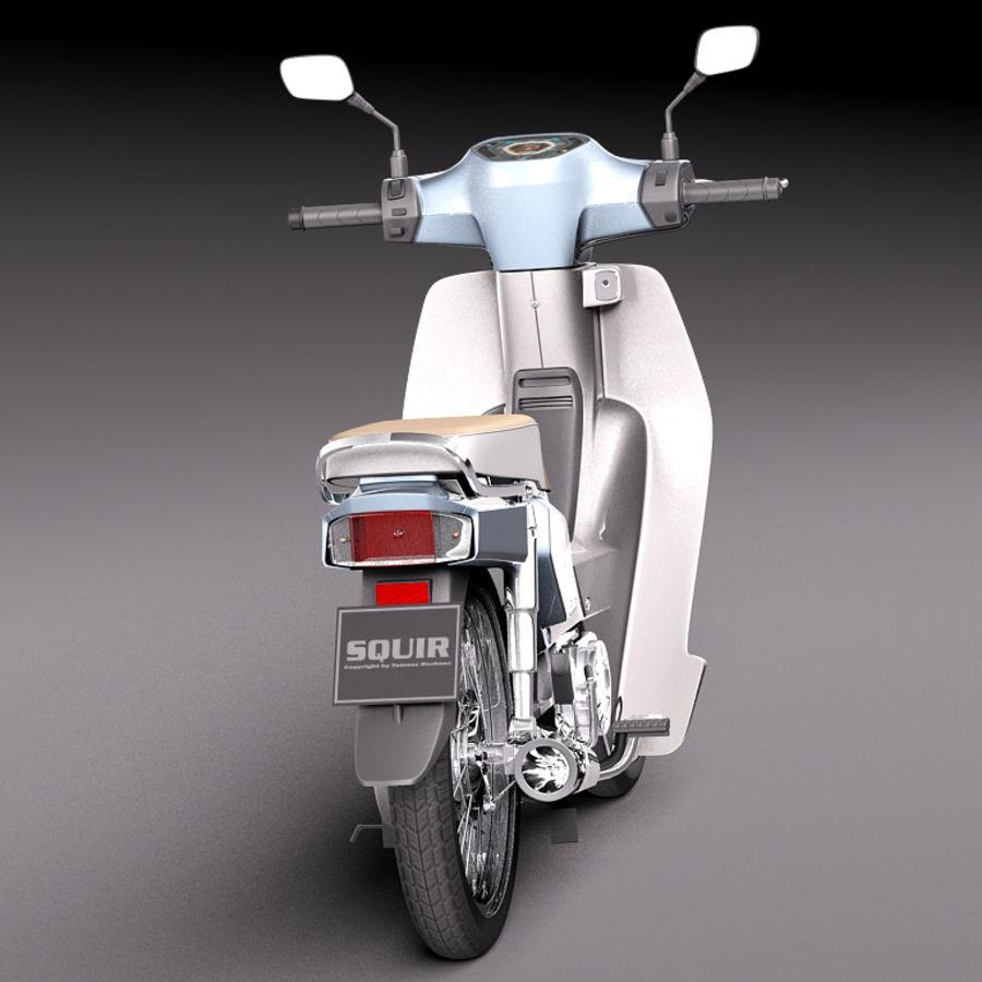 Honda Super Cub 2013 royalty-free 3d model - Preview no. 6