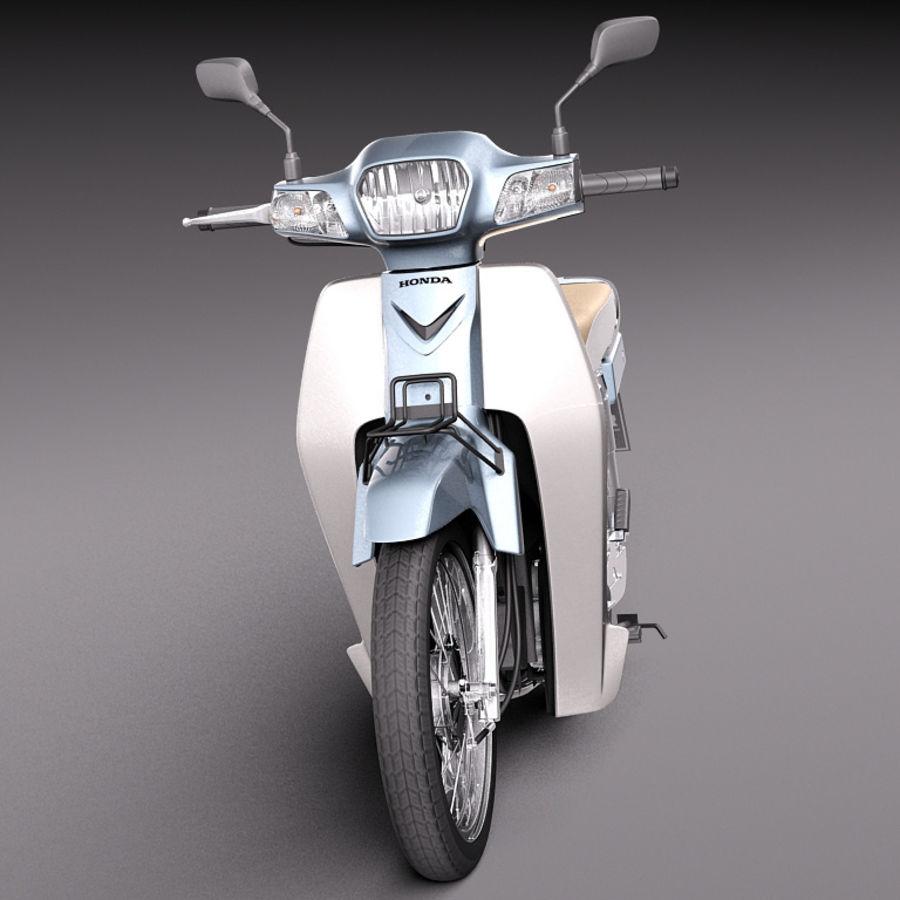 Honda Super Cub 2013 royalty-free 3d model - Preview no. 2