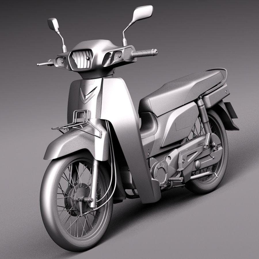 Honda Super Cub 2013 royalty-free 3d model - Preview no. 9