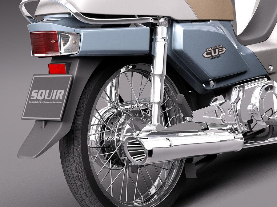 Honda Super Cub 2013 royalty-free 3d model - Preview no. 4