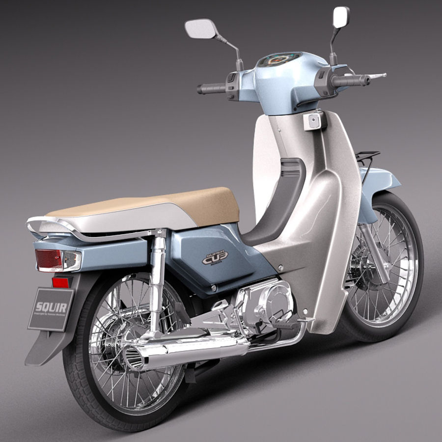Honda Super Cub 2013 royalty-free 3d model - Preview no. 5
