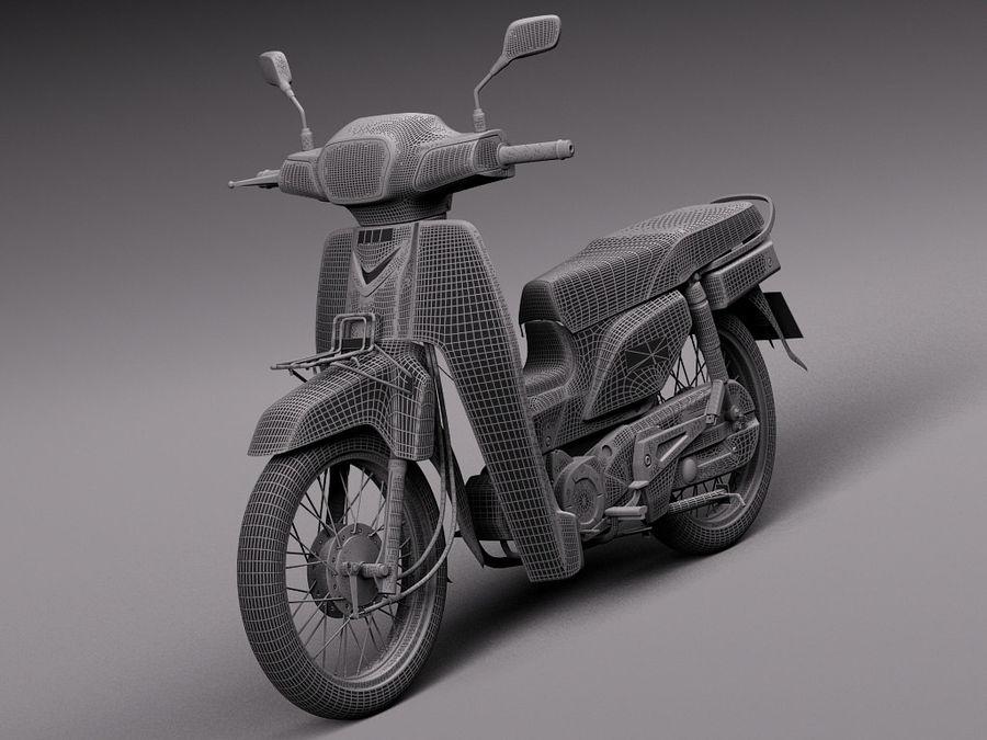 Honda Super Cub 2013 royalty-free 3d model - Preview no. 13