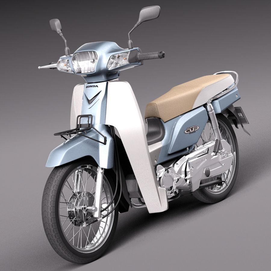 Honda Super Cub 2013 royalty-free 3d model - Preview no. 1
