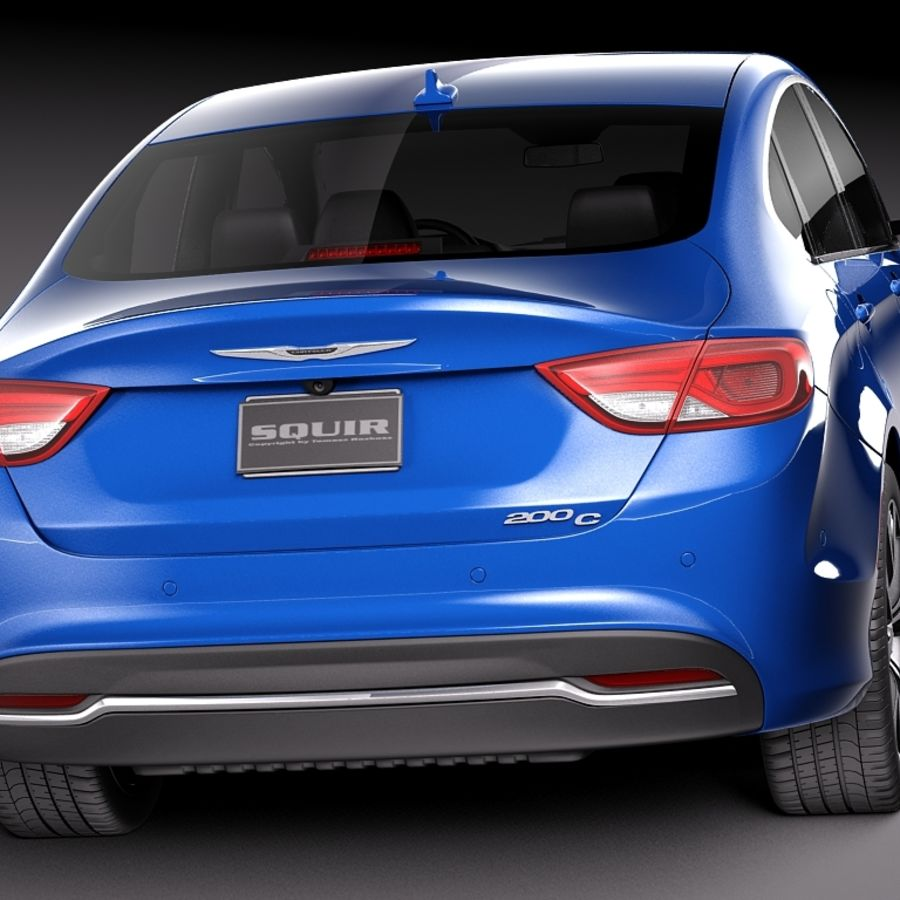 Chrysler 200 2015 royalty-free 3d model - Preview no. 6