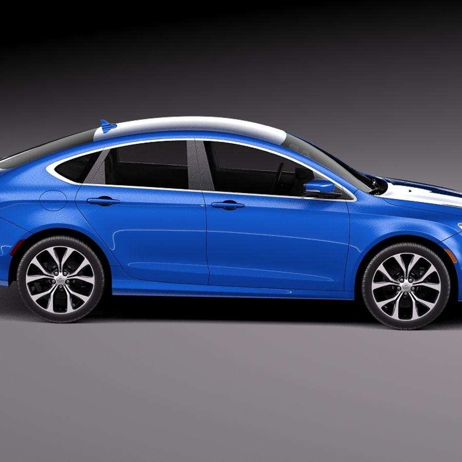 Chrysler 200 2015 royalty-free 3d model - Preview no. 7