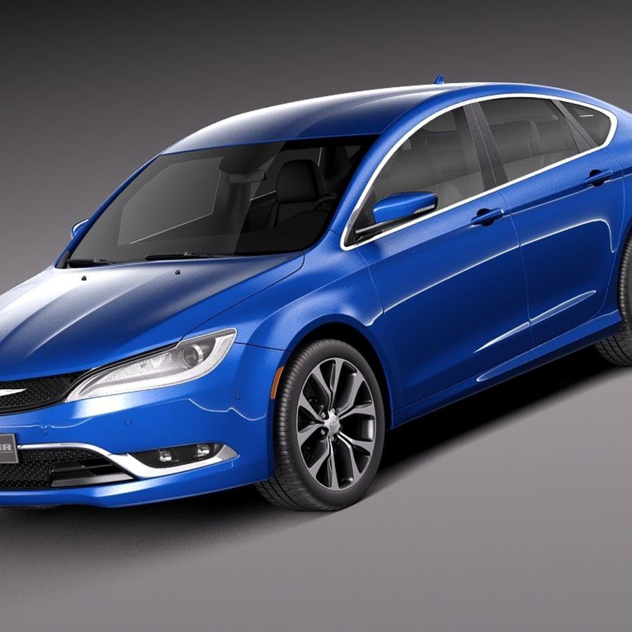 Chrysler 200 2015 royalty-free 3d model - Preview no. 1