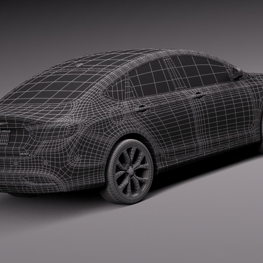 Chrysler 200 2015 royalty-free 3d model - Preview no. 16