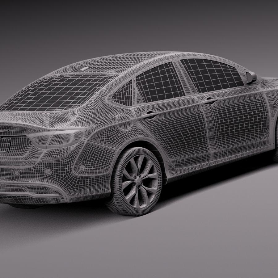 Chrysler 200 2015 royalty-free 3d model - Preview no. 14