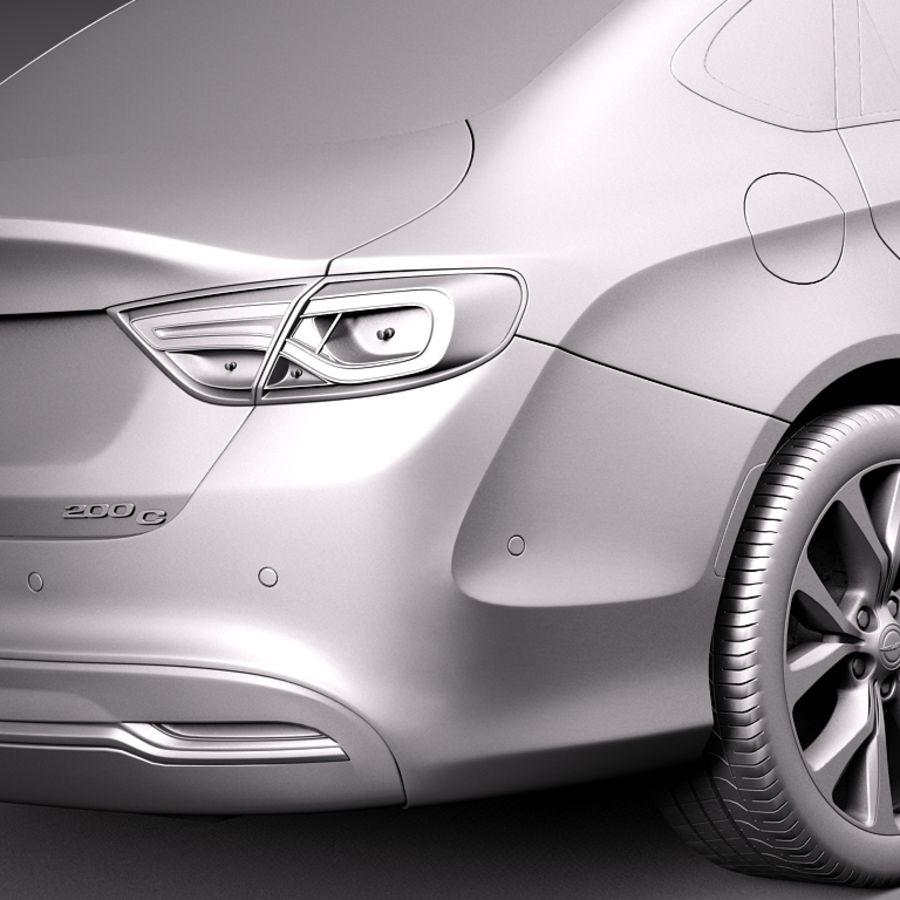 Chrysler 200 2015 royalty-free 3d model - Preview no. 11
