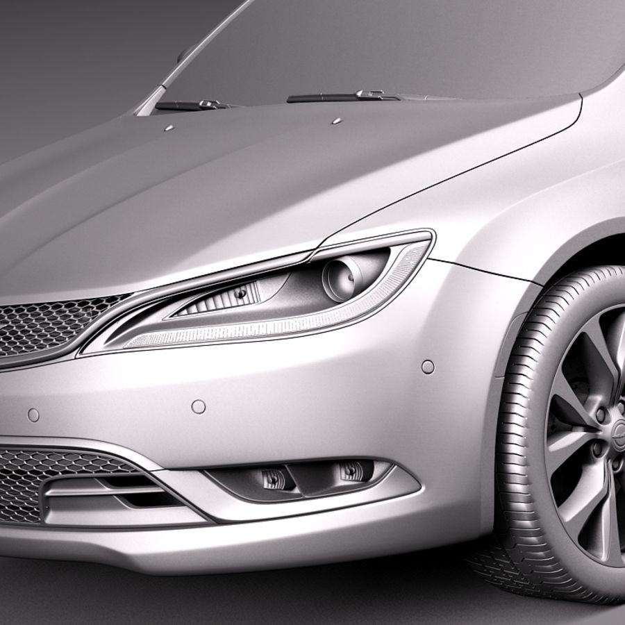 Chrysler 200 2015 royalty-free 3d model - Preview no. 10