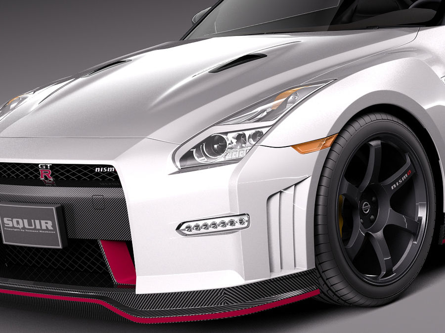 日产GT-R Nismo 2015 royalty-free 3d model - Preview no. 3