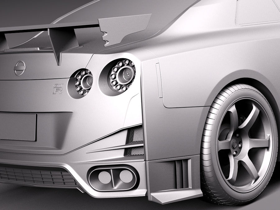 日产GT-R Nismo 2015 royalty-free 3d model - Preview no. 12