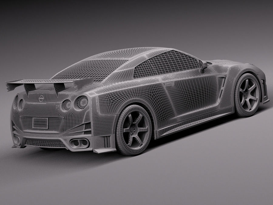Nissan GT-R Nismo 2015 royalty-free 3d model - Preview no. 15