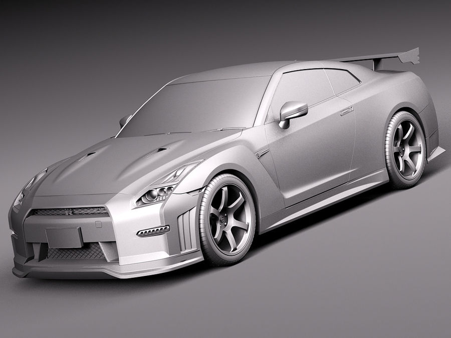 日产GT-R Nismo 2015 royalty-free 3d model - Preview no. 10