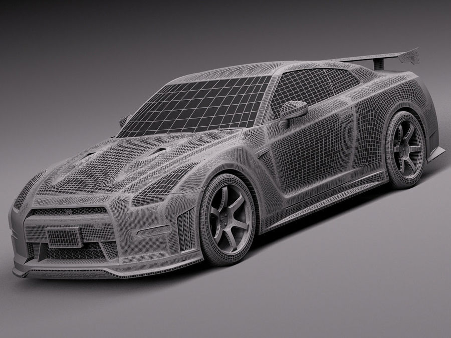 Nissan GT-R Nismo 2015 royalty-free 3d model - Preview no. 14