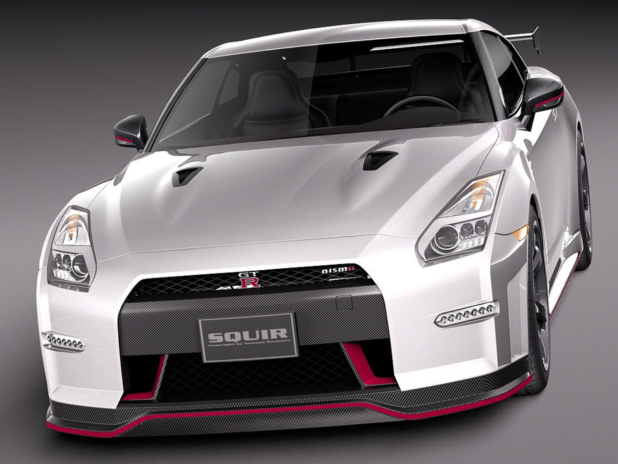 日产GT-R Nismo 2015 royalty-free 3d model - Preview no. 2