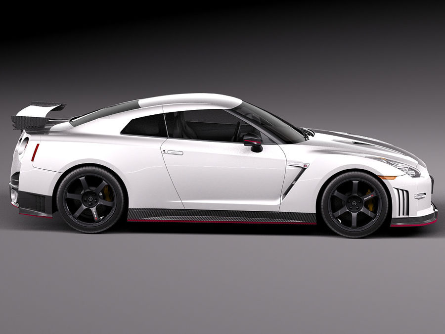 日产GT-R Nismo 2015 royalty-free 3d model - Preview no. 7