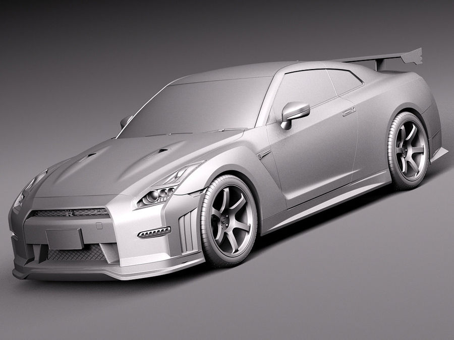 Nissan GT-R Nismo 2015 royalty-free 3d model - Preview no. 10