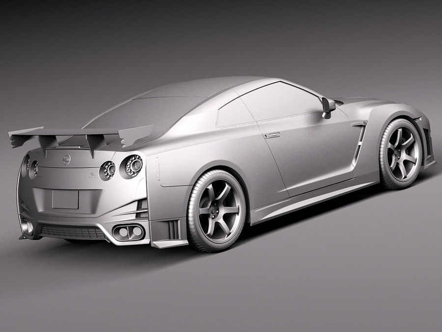 Nissan GT-R Nismo 2015 royalty-free 3d model - Preview no. 13