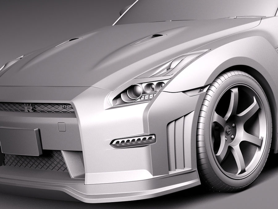 日产GT-R Nismo 2015 royalty-free 3d model - Preview no. 11