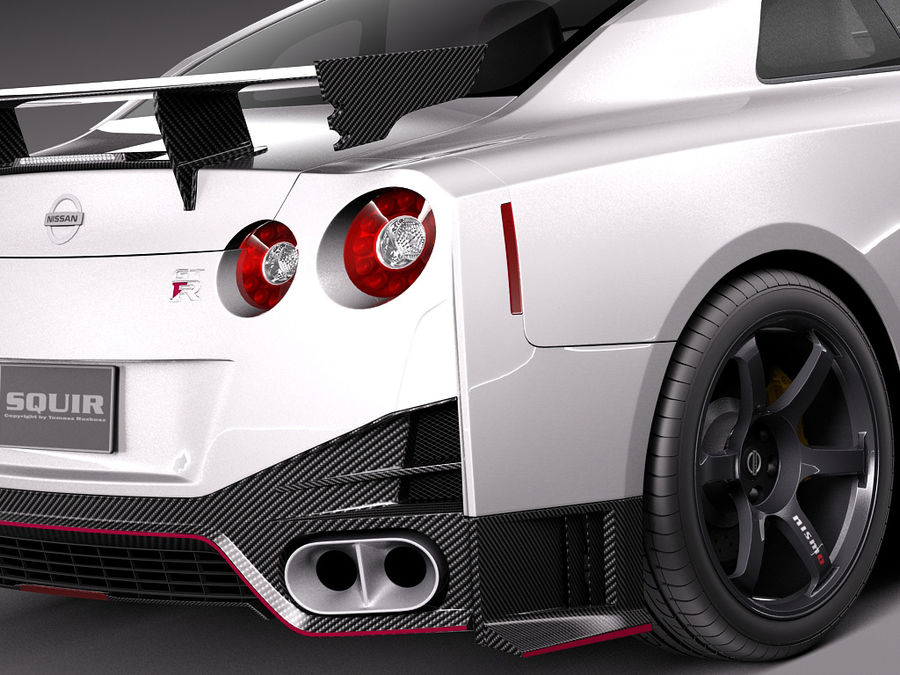 日产GT-R Nismo 2015 royalty-free 3d model - Preview no. 4