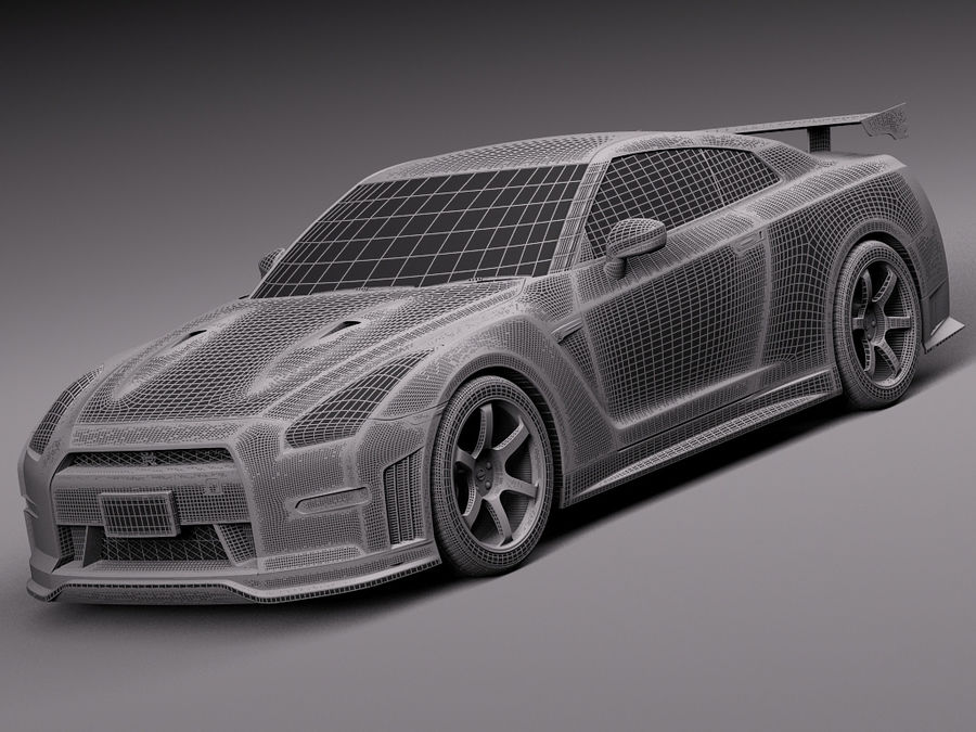 日产GT-R Nismo 2015 royalty-free 3d model - Preview no. 14