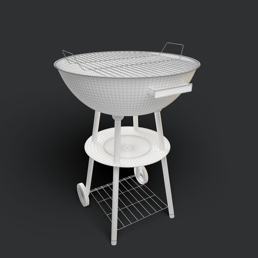 Grill royalty-free 3d model - Preview no. 6