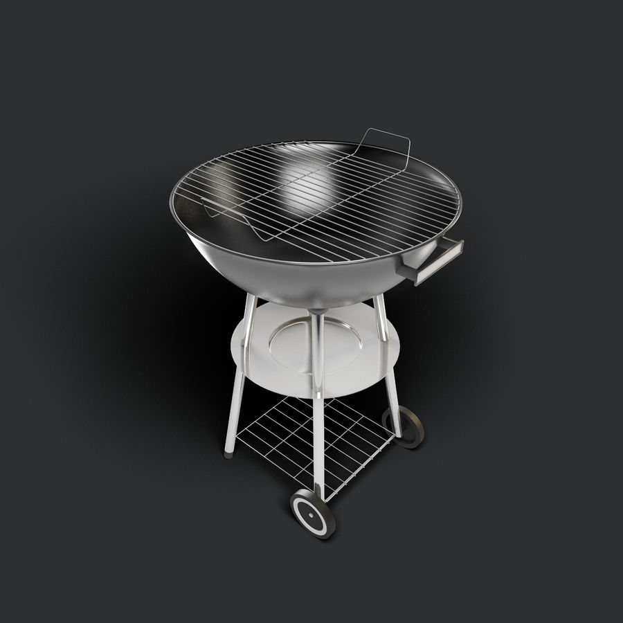 Grill royalty-free 3d model - Preview no. 2