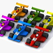 Cartoon Racing Car Collection 3d model