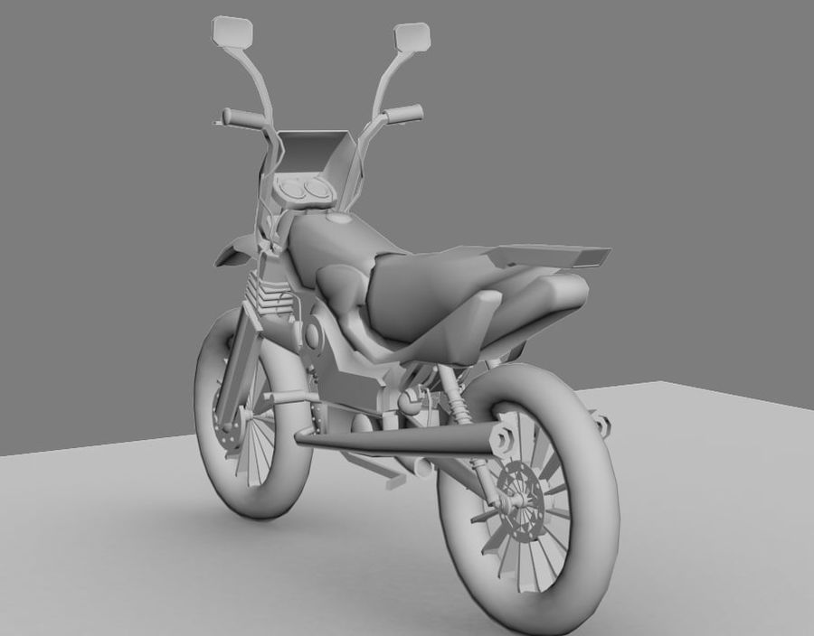 BikeLowPoly royalty-free 3d model - Preview no. 3