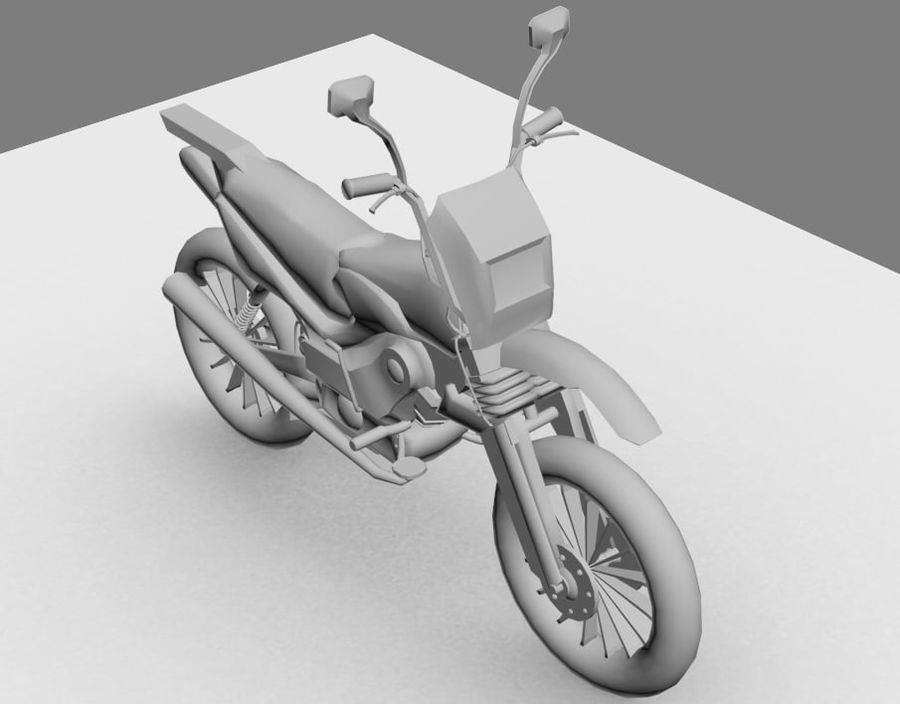 BikeLowPoly royalty-free 3d model - Preview no. 4