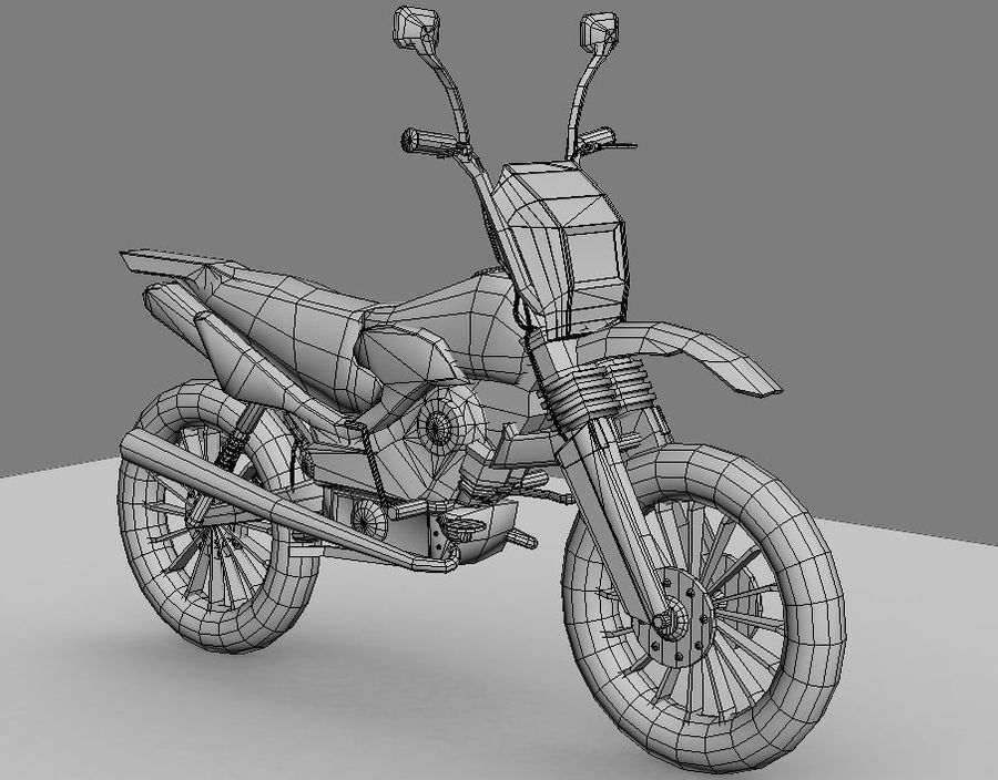 BikeLowPoly royalty-free 3d model - Preview no. 7