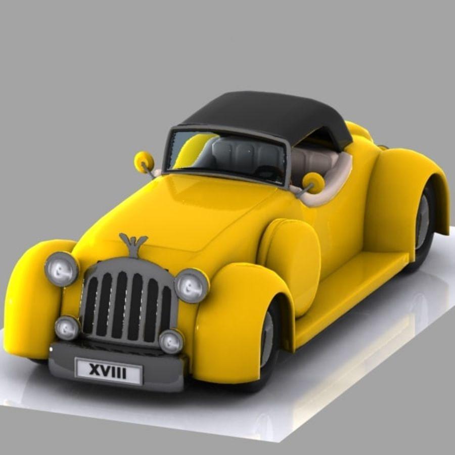 Cartoon Classic Car royalty-free 3d model - Preview no. 2