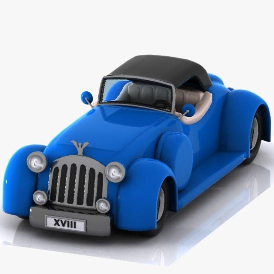 Cartoon Classic Car royalty-free 3d model - Preview no. 3