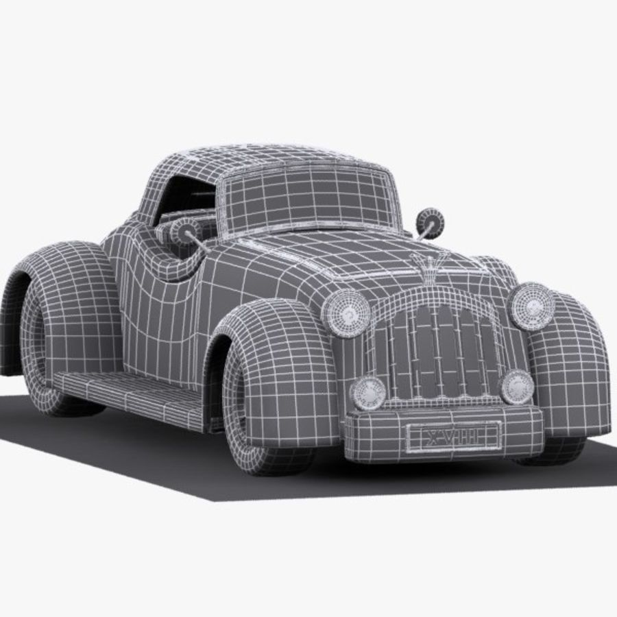 Cartoon Classic Car royalty-free 3d model - Preview no. 18