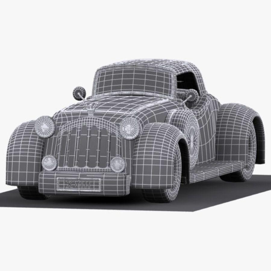 Cartoon Classic Car royalty-free 3d model - Preview no. 14