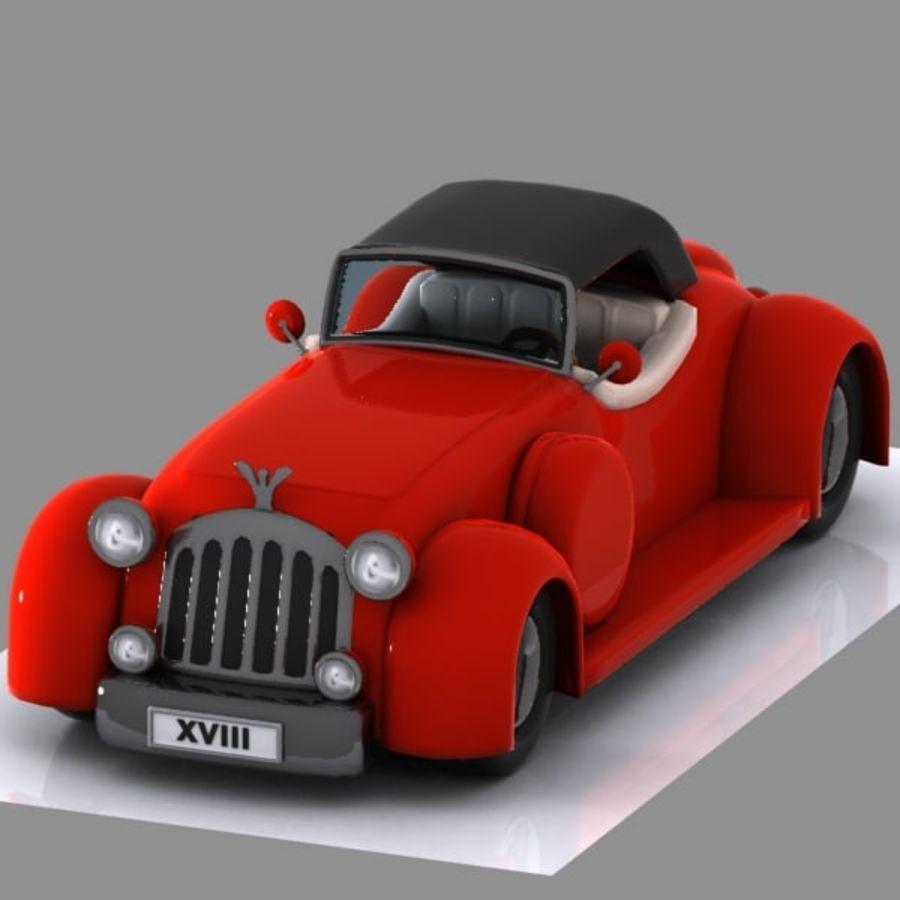 Cartoon Classic Car royalty-free 3d model - Preview no. 6