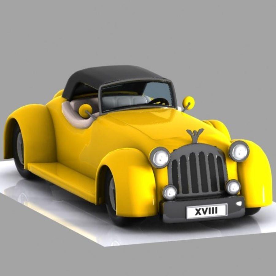 Cartoon Classic Car royalty-free 3d model - Preview no. 7